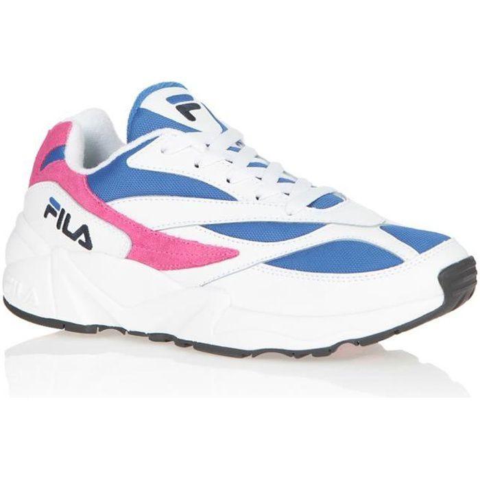 FILA Baskets V94M Low - Blanc/Bleu electric/Rose - Femme