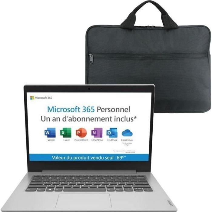 PC Portable Ultrabook - LENOVO Ideapad IP 1 14ADA05 - 14''HD - AMD 3020E - RAM 4Go - Stockage 64Go - Windows 10 - AZERTY + Sacoche