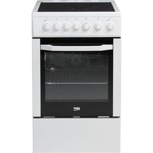 BEKO CSS57101GW-Cuisini?re table vitrocéramique-4 zones-Four électrique-Catalyse-60 L-Classe A-L50 x H 85 cm-Blanc