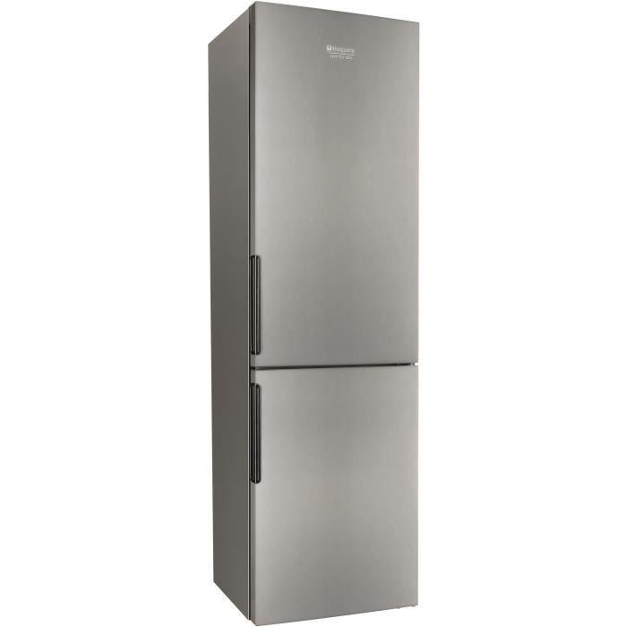 HOTPOINT LH8FF1IA - Réfrigérateur congélateur bas - 301L (223L+88L) - Froid brassé et no frost - A+ - L60 x H189cm - Inox