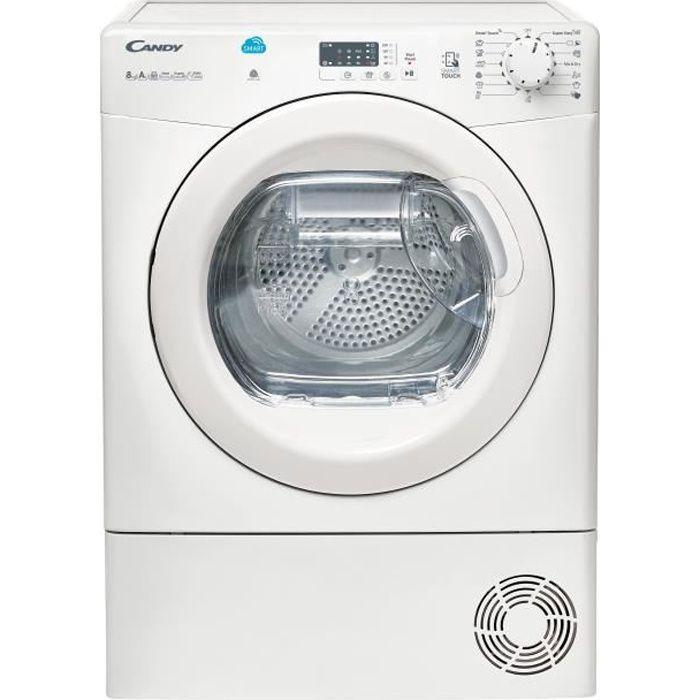 Sèche-linge pompe à chaleur CANDY CSH8A1LE - 8 kg - Classe A - Blanc