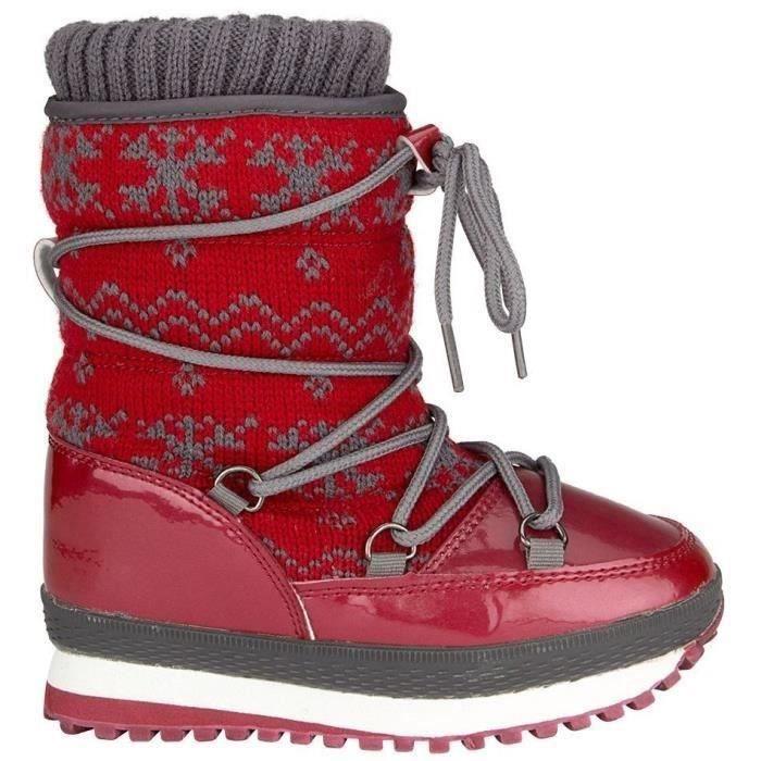 WINTER-GRIP Après-ski tricot - Enfant - Rouge