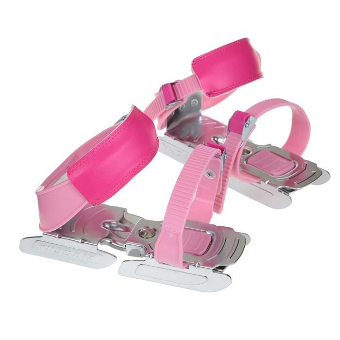 NIJDAM JUNIOR Bob Patins ajustables - Taille unique - Rose