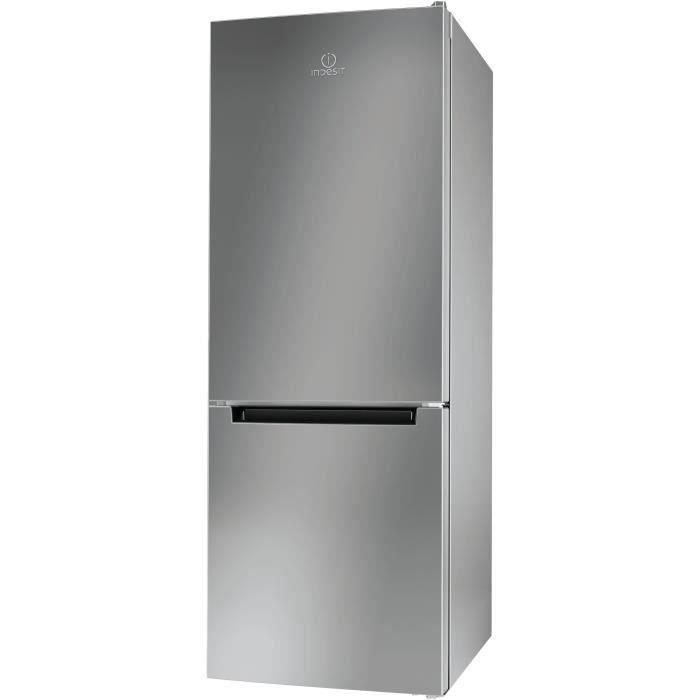 INDESIT LR6 S1 S - Réfrigérateur congélateur bas - 271L (196+75) - Froid statique - A+ - L 60cm x H 156cm - Silver
