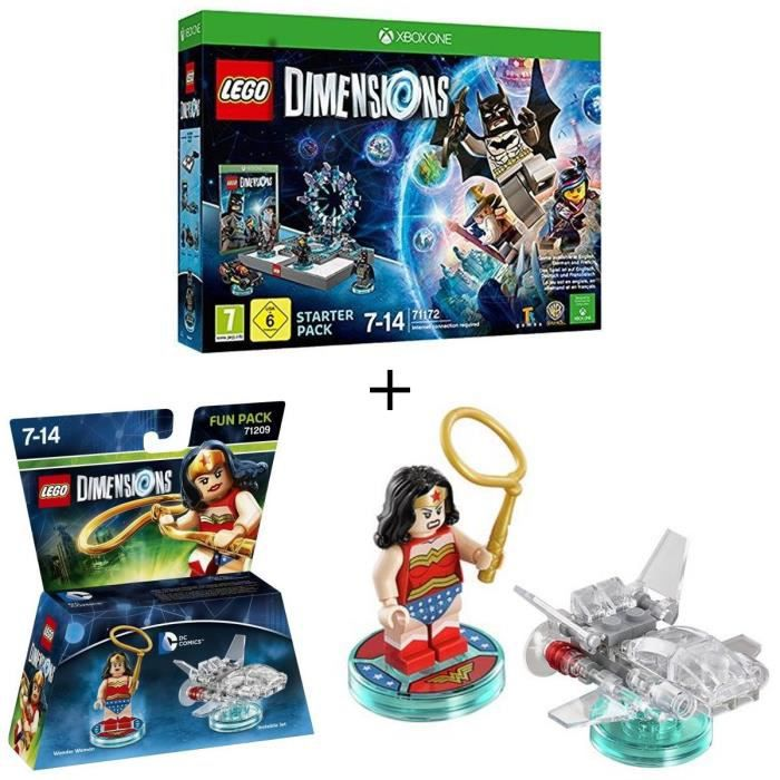 Pack LEGO: Starter Pack Xbox One LEGO Dimension + Figurine LEGO Dimensions: Wonder Woman