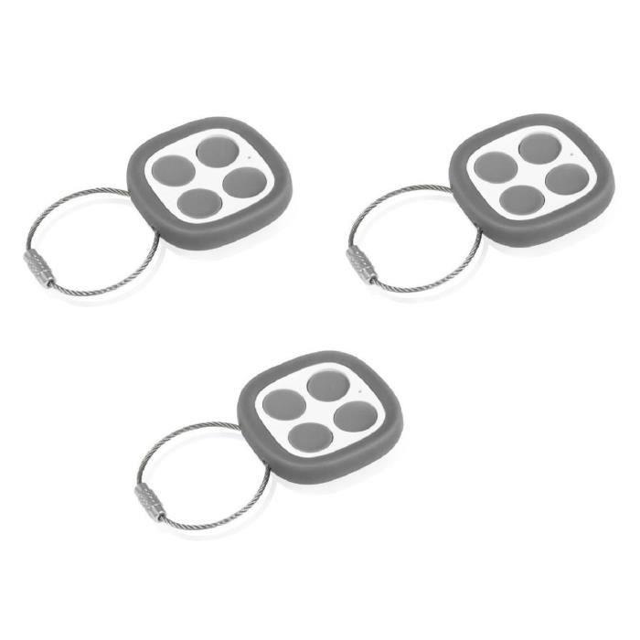 THOMSON Pack de 3 télécommandes universelles 500021 pour motorisation de portails et portes de garage