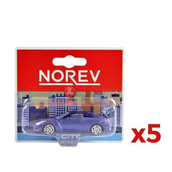 NOREV Pack 5 voitures miniature en métal (modèle aléatoire)