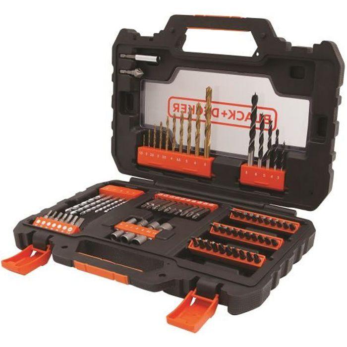 BLACK&DECKER Coffret 76 accessoires perçage vissage A7231