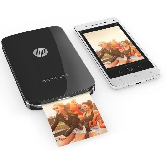 Imprimante photo de poche Hp Sprocket Plus Noir impression instantanée