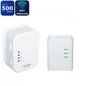 COURANT PORTEUR - CPL D-LINK Kit avec 2 Mini adaptateurs CPL Wifi- DHP-W
