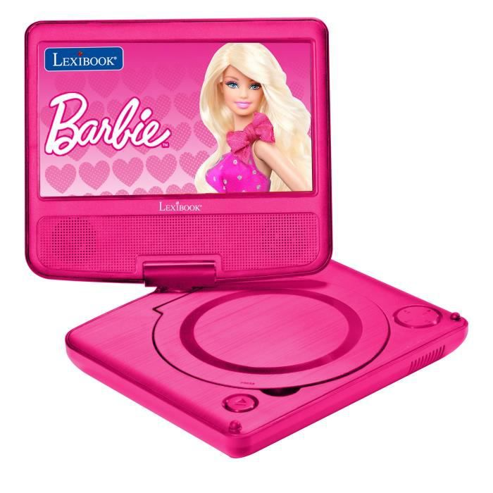 barbie lecteur dvd portable lexibook achat vente lecteur dvd enfant cdiscount. Black Bedroom Furniture Sets. Home Design Ideas