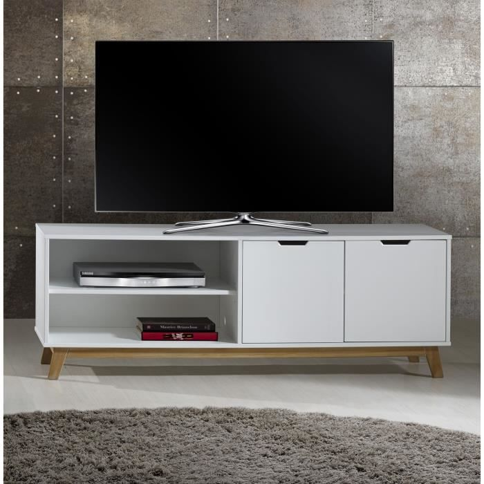 meuble tv blanc laque 140 cm. Black Bedroom Furniture Sets. Home Design Ideas