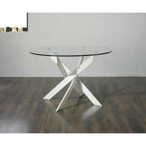 Table a manger ronde 6 personnes achat vente table a for Table ronde 6 personnes