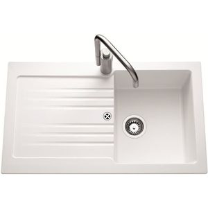 Evier blanc achat vente evier blanc pas cher cdiscount for Evier cuisine 86x50