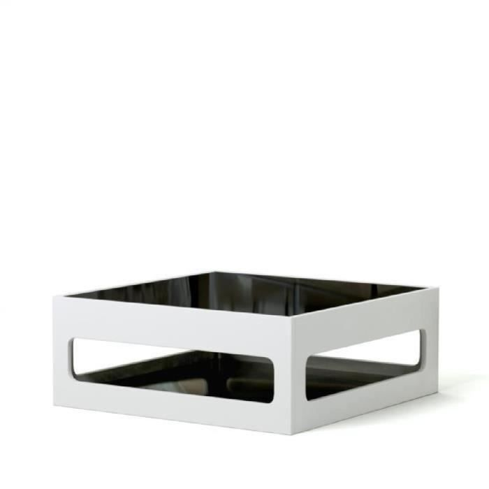 Table basse carree laquee blanc achat vente table for Table basse blanche pas cher