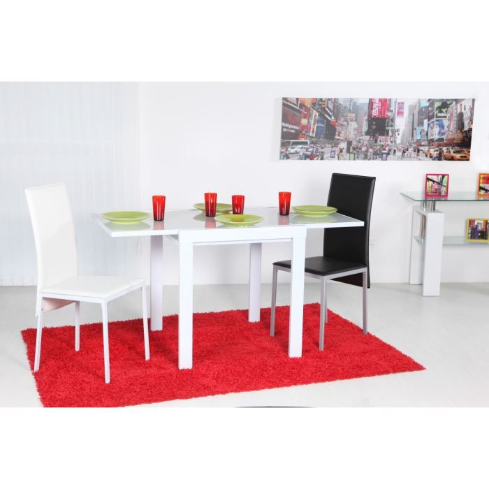 dobli table blanche de cuisine 70 140x70cm achat vente table de cuisine dobli table de. Black Bedroom Furniture Sets. Home Design Ideas