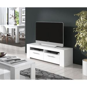 meuble tele blanc laque achat vente meuble tele blanc. Black Bedroom Furniture Sets. Home Design Ideas