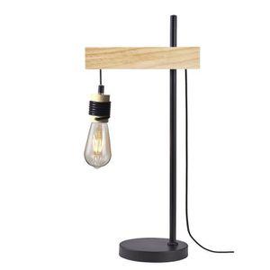 LAMPE A POSER DETROIT Lampe industrielle en bois - 24 x 18 x H60