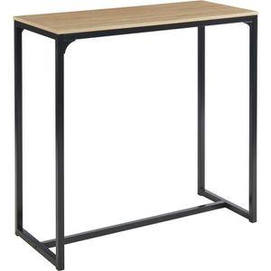 TABLE À MANGER SEULE ARCHE Table haute - Style industriel en MDF et mét