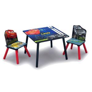 TABLE ET CHAISE CARS - Ensemble Table et 2 Chaises Bois Enfant  -