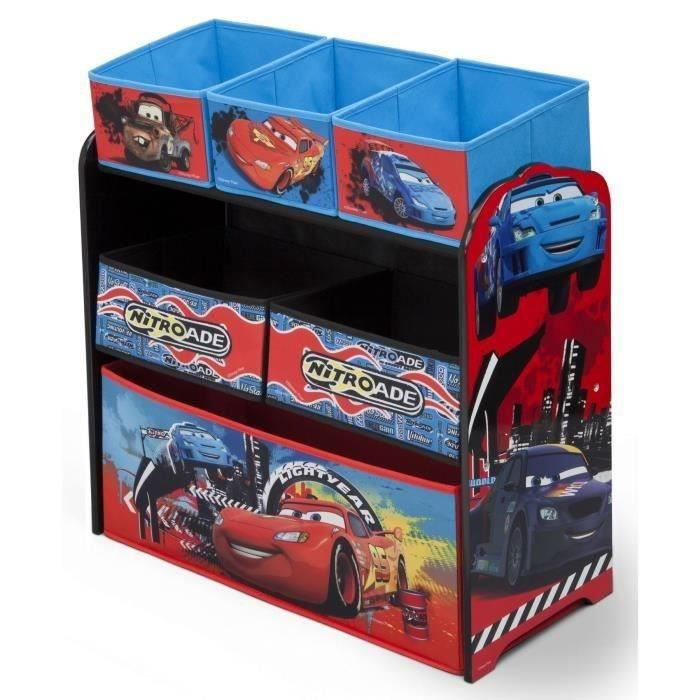 cars meuble de rangement enfant jouets 6 bacs achat. Black Bedroom Furniture Sets. Home Design Ideas