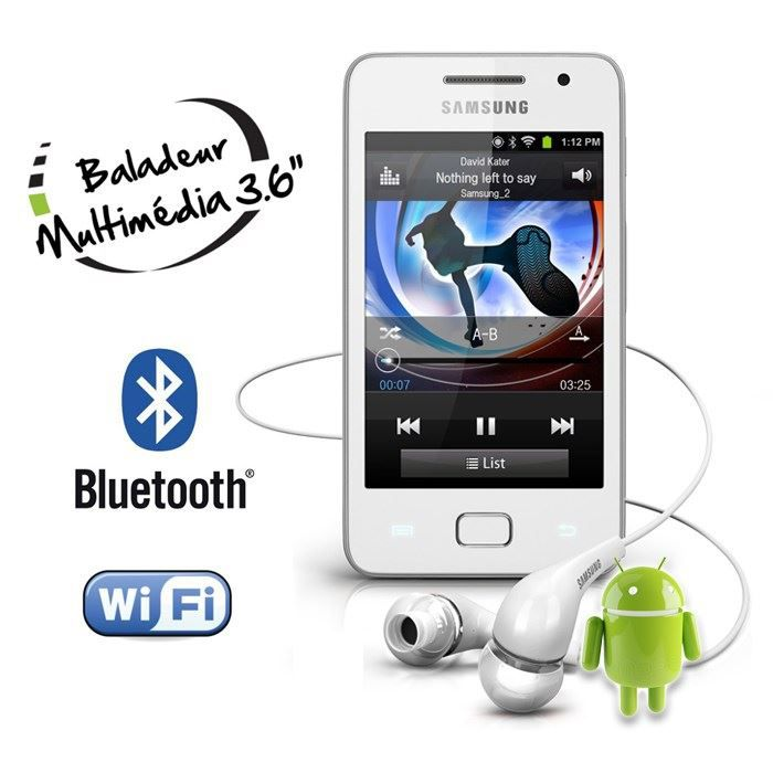 Baladeur MP4 SAMSUNG YP GS1CW Galaxy S Wifi lecteur mp4