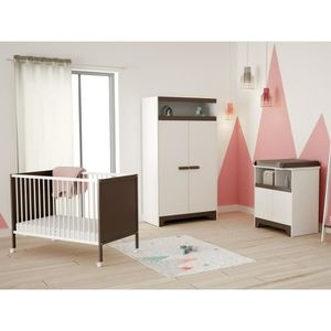 CHAMBRE COMPLETE BEBE FANNY Chambre Bebe Complete 3 Pieces Taupe Lit 6