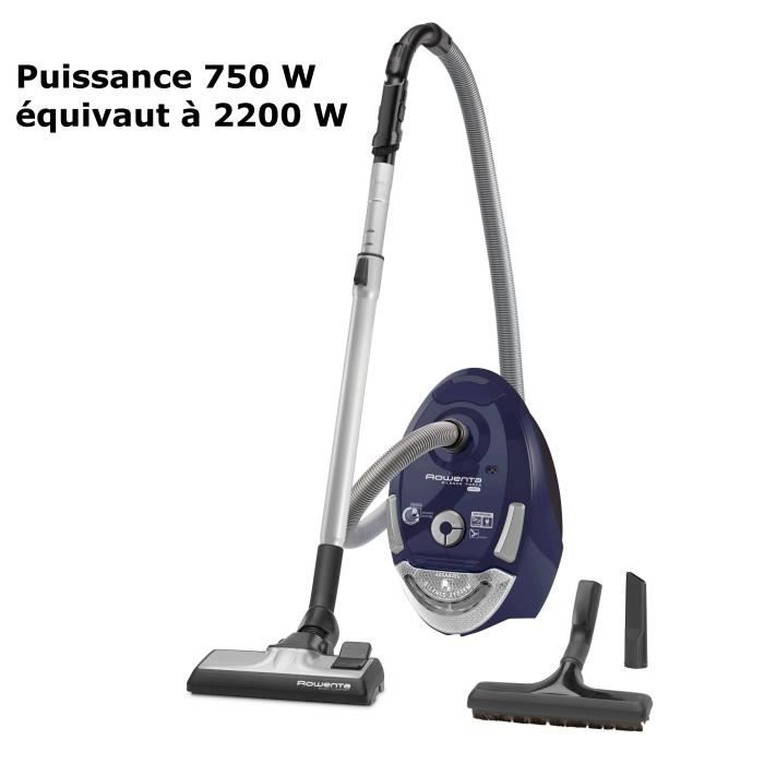 rowenta ro4631ea aspirateur tra neau avec sac silence force compact 750w 69 db a bleu. Black Bedroom Furniture Sets. Home Design Ideas