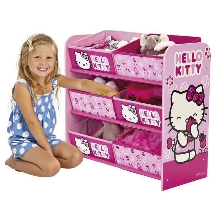 Hello kitty meuble de rangement enfant achat vente for Hello kitty chambre