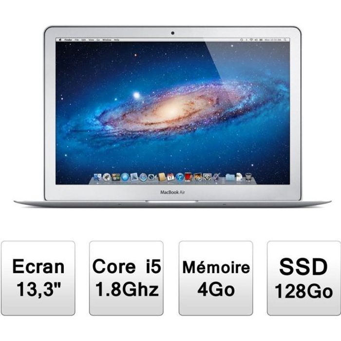 apple macbook air 13 md231f a prix pas cher cdiscount. Black Bedroom Furniture Sets. Home Design Ideas