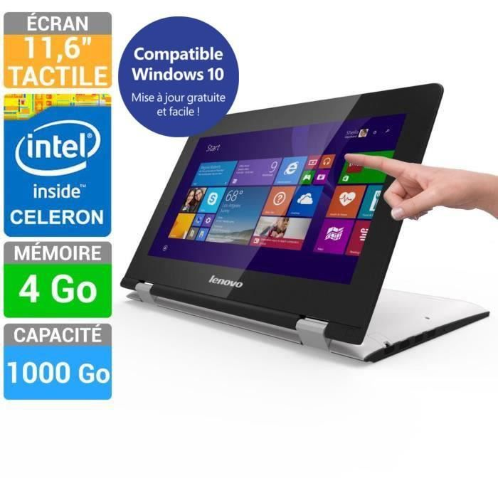lenovo ideapad yoga 300 pc portable tactile 11 6 achat. Black Bedroom Furniture Sets. Home Design Ideas