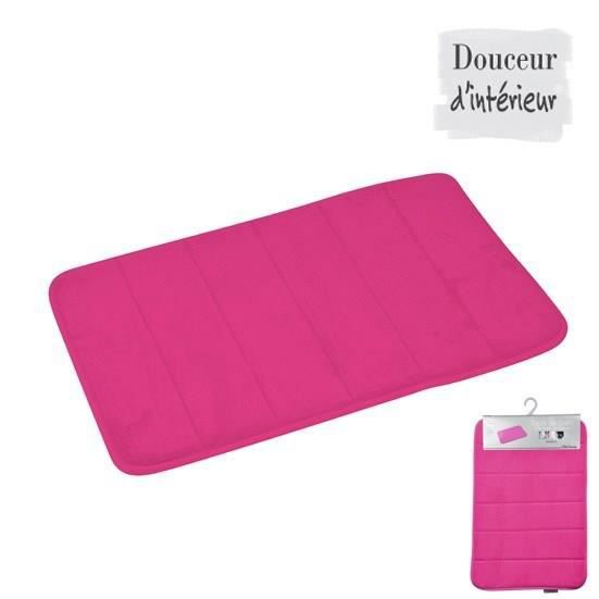 tapis m moire de forme uni fuchsia 40x60 cm achat vente tapis de bain synth tique cdiscount. Black Bedroom Furniture Sets. Home Design Ideas