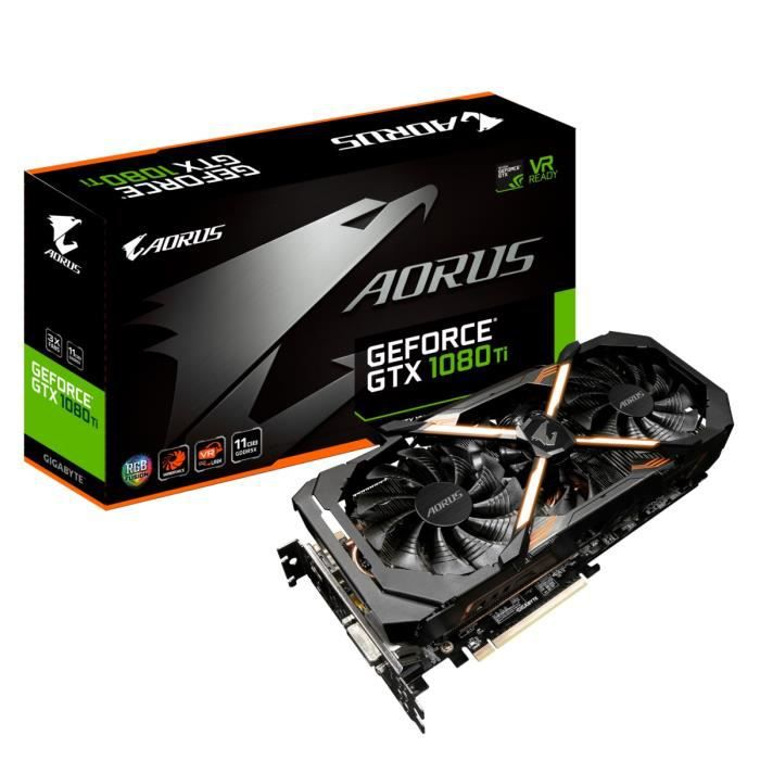 CARTE GRAPHIQUE INTERNE Gigabyte Carte graphique AORUS GeForce® GTX 1080 T