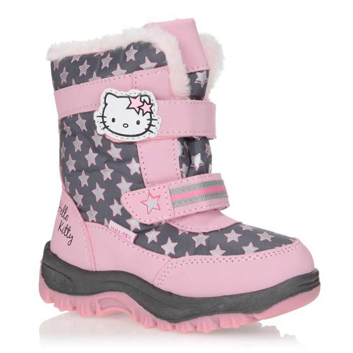 hello kitty bottes de neige papo enfant fille rose et gris achat vente botte cdiscount. Black Bedroom Furniture Sets. Home Design Ideas