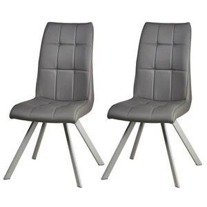 CHAISE COCOON Lot de 2 chaises de salle à manger - Simili
