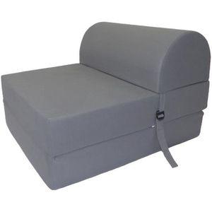 CHAUFFEUSE JUNE Chauffeuse convertible 1 place - Tissu gris -