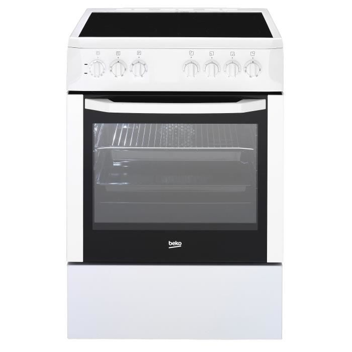 beko cse67101gw cuisini re 60cm four multifonction catalyse table vitroc ramique 3 zones. Black Bedroom Furniture Sets. Home Design Ideas