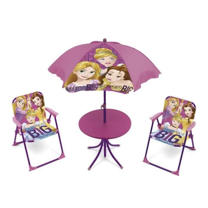 Destockage disney princesses ensemble de jardin camping enfant table 2 ch - Ensemble jardin enfant ...