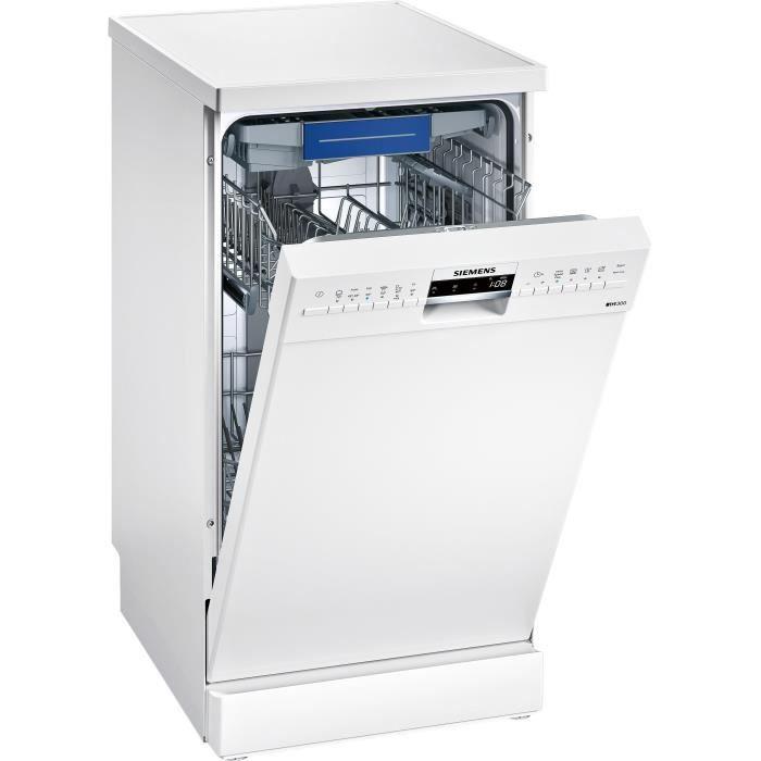 Siemens Sr236w01me Lave Vaisselle Posable 10 Couverts Silencieux 44 Db A Larg 45 Cm Blanc Moteur Induction