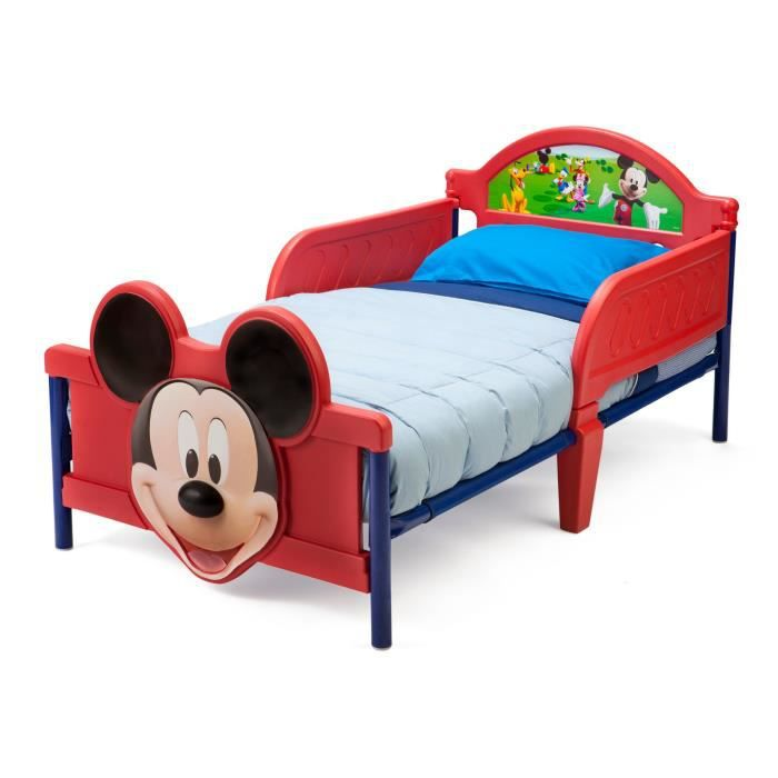 Hello kitty toddler bed frame - Mickey Lit Enfant En Plastique 70 X 140 Cm Achat Vente Structure