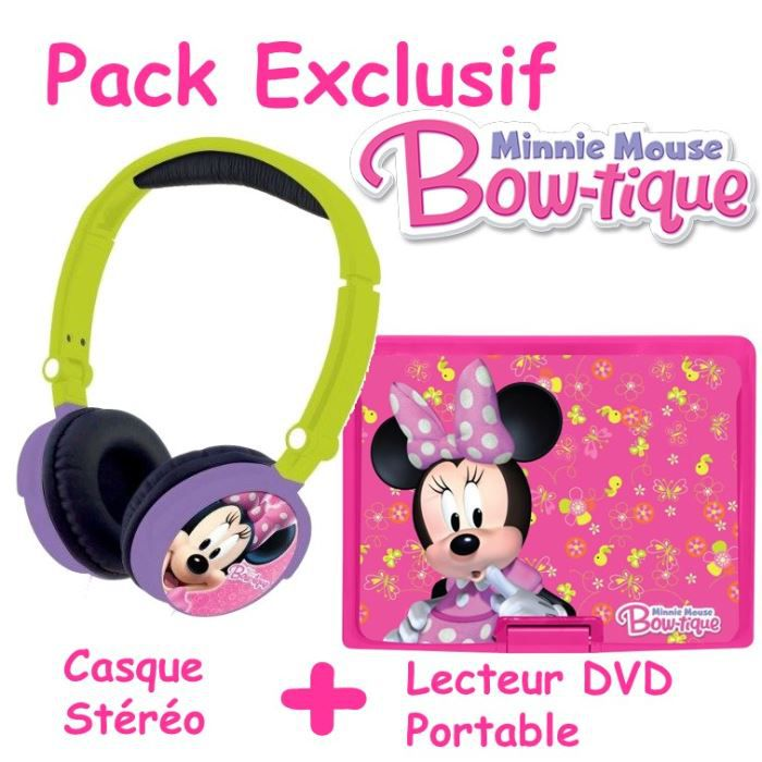 minnie lecteur dvd portable avec casque st r o achat vente lecteur cd dvd enfant lecteur dvd. Black Bedroom Furniture Sets. Home Design Ideas