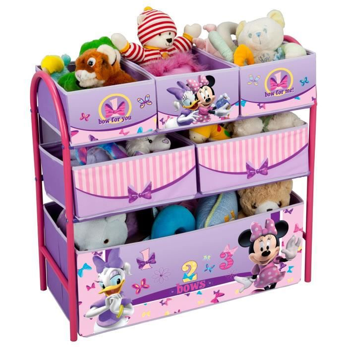 delta children minnie meuble de rangement enfant jouets 6 bacs achat vente commode de. Black Bedroom Furniture Sets. Home Design Ideas