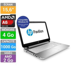 hp pavilion 15 p221nf pc portable 15 6 amd a6 prix pas cher cdiscount. Black Bedroom Furniture Sets. Home Design Ideas