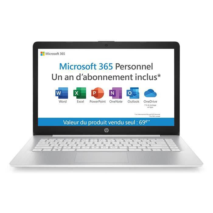 "ORDINATEUR PORTABLE HP PC Portable Stream 14-ds0001nf - 14"" HD - AMD A"
