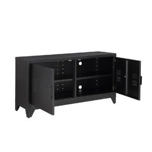 meuble metal noir achat vente meuble metal noir pas. Black Bedroom Furniture Sets. Home Design Ideas