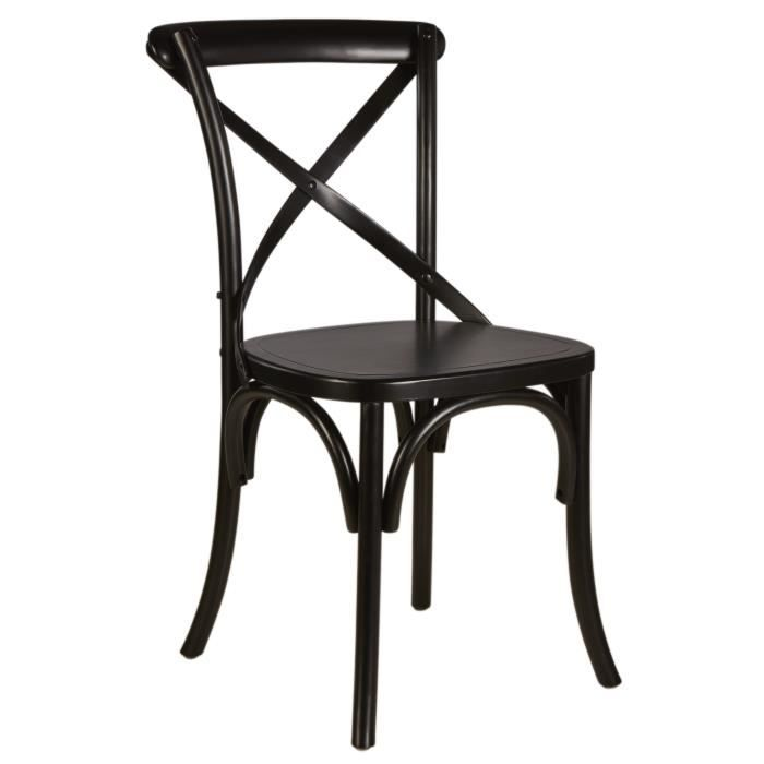 chaise bistrot noire achat vente chaise bistrot noire. Black Bedroom Furniture Sets. Home Design Ideas