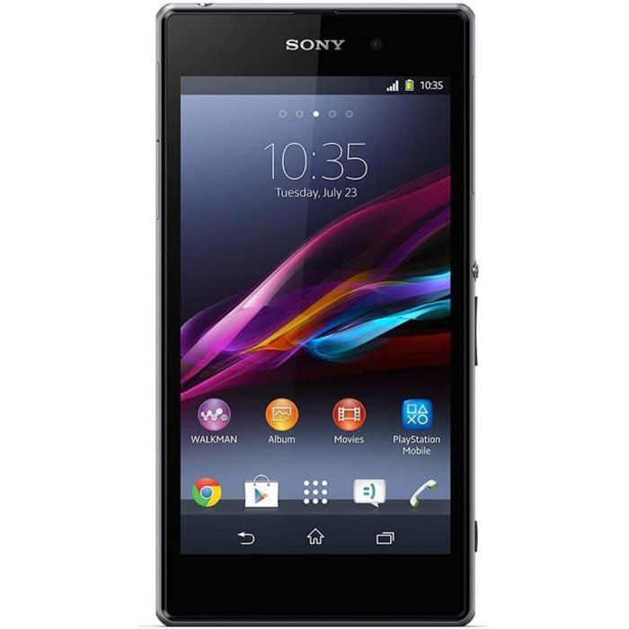 sony xperia z1 noir 4g smartphone prix pas cher soldes d t cdiscount. Black Bedroom Furniture Sets. Home Design Ideas