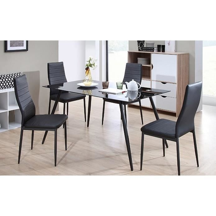 home table de s jour 160x80cm noir. Black Bedroom Furniture Sets. Home Design Ideas