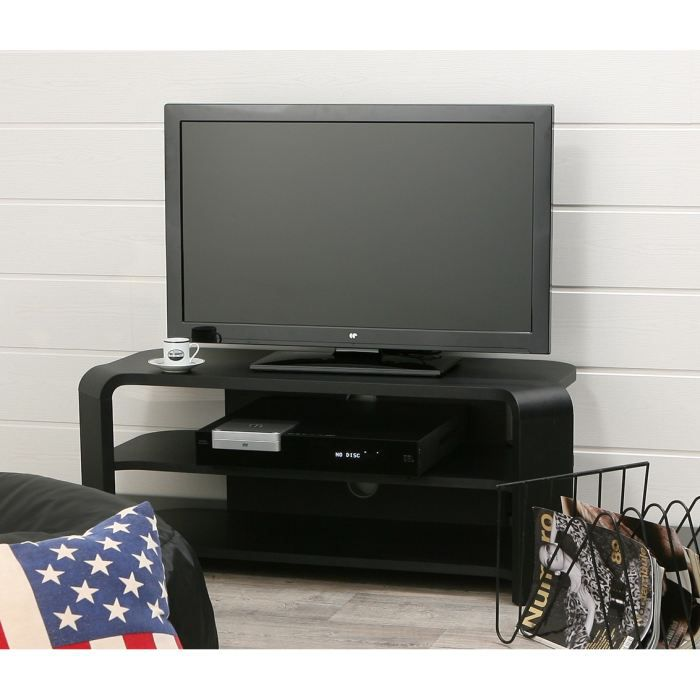 jay meuble tv 100x40cm noir achat vente meuble tv jay. Black Bedroom Furniture Sets. Home Design Ideas