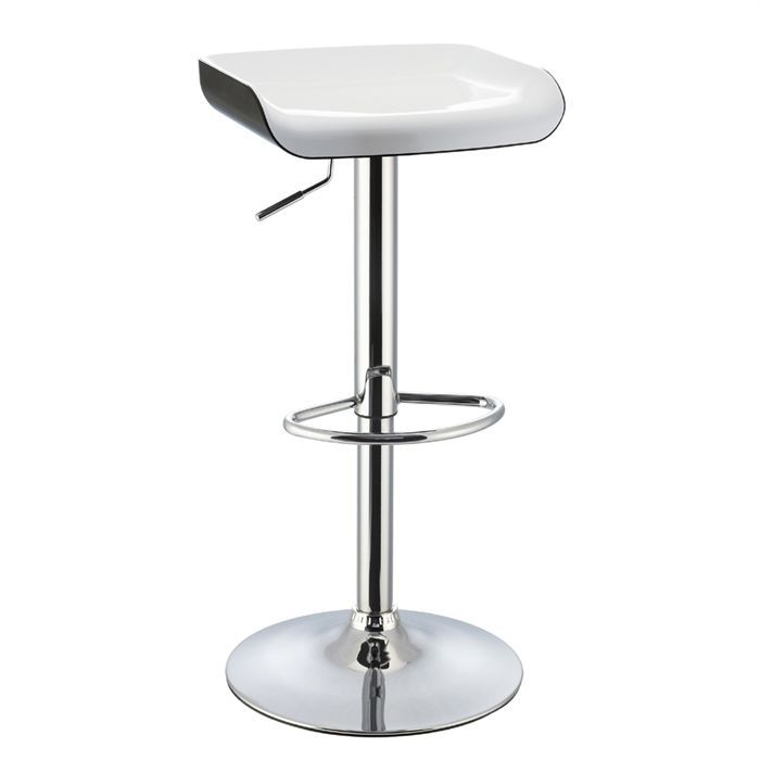 tabouret de bar blanc noir assise abs achat vente tabouret tabouret de bar blanc noir. Black Bedroom Furniture Sets. Home Design Ideas